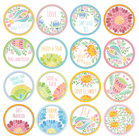 party favors: personalized candy sticker labels big set - perfect addition to wedding or party favors