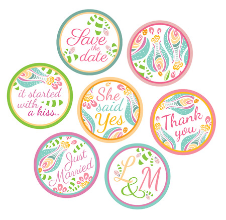 party favors: Personalized Candy Sticker Labels - perfect addition to wedding or party favors