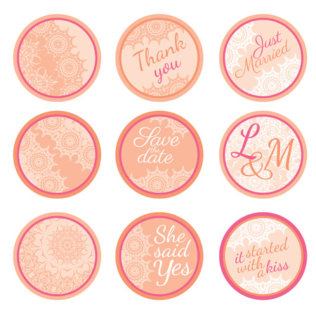personalized: Personalized Candy Sticker Labels with sakura big set - perfect addition to wedding or party favors