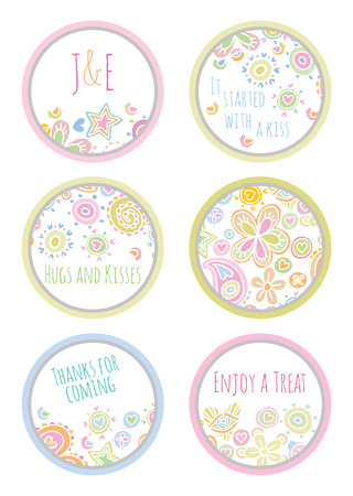 favors: personalized candy sticker labels set - perfect addition to wedding or party favors
