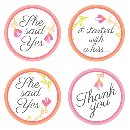 party favors: Personalized Candy Sticker Labels with sakura big set - perfect addition to wedding or party favors