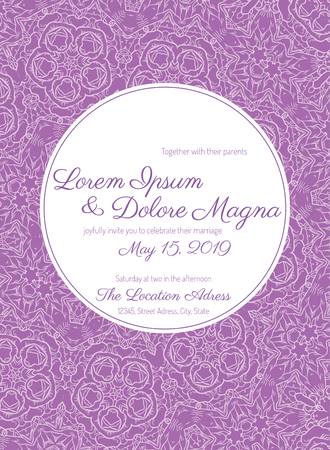 celebration background: Invitation wedding card with Lace background vector template - for invitations, flyers, postcards, cards and so on