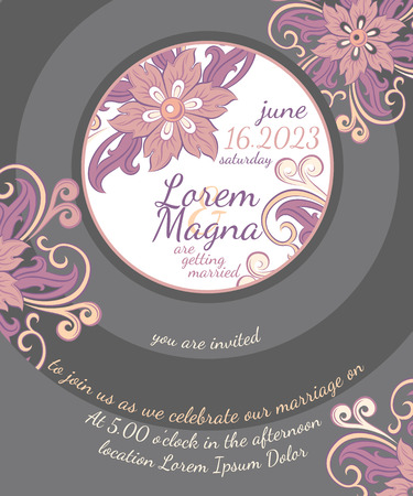 'party background': Invitation wedding card vector template - for invitations, flyers, postcards, cards and so on