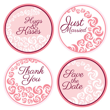 favors: Personalized Candy Sticker Labels with rose set - perfect addition to wedding or party favors