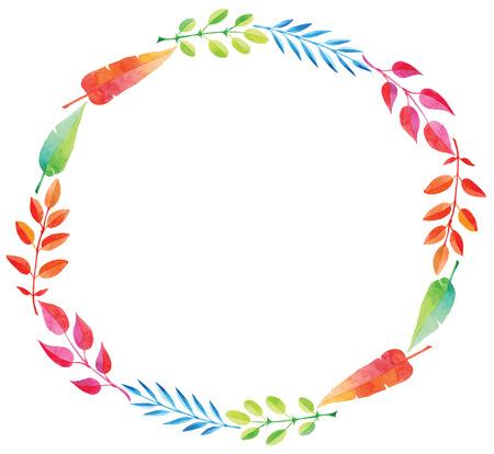 despedida de soltera: marco de dibujo de la acuarela de la mano redonda para las invitaciones y las tarjetas de diseño