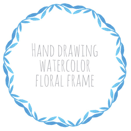 Hand paint frame of watercolor flowers made in vector. Perfect hand paint wreath for invitations, cards, projects or design. Bright summer illustration.