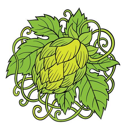cerveza negra: L�pulo vector visual gr�fico iconos, dise�o o logotipos, ideal para la cerveza, cerveza de malta, cerveza inglesa, cerveza dorada, etiquetas amargas y envasado
