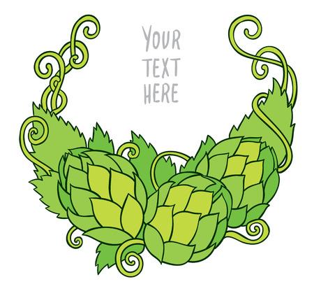 cerveza negra: L�pulo vector visual gr�fico ilustraci�n - dise�o o logotipos, ideal para la cerveza, cerveza de malta, cerveza inglesa, cerveza dorada, etiquetas amargas y envasado