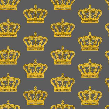 corona reale su sfondo grigio senza soluzione di continuità pattern di trama