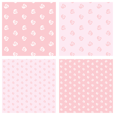 endless: roses on pink background - seamless endless pattern  Illustration