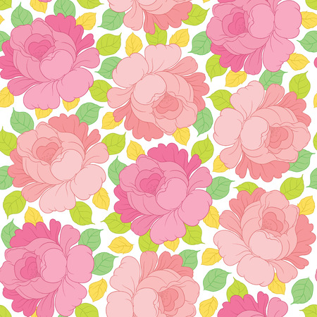 background patterns: Hand drawing vector floral seamless pattern - flowers in Russian style folk handicraft Zhostovo - for invitations, flyers, postcards, cards and so on