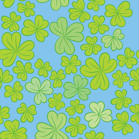 packing material: Clover leaves on a light background - Seamless vector trefoil ornament