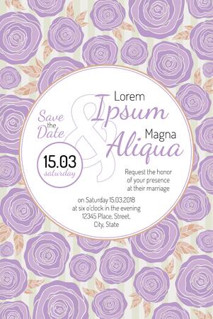 background elegant: tarjeta de invitaci�n de boda con flores de moda plantilla vector de corriente - para las invitaciones, folletos, tarjetas postales, tarjetas, etc.