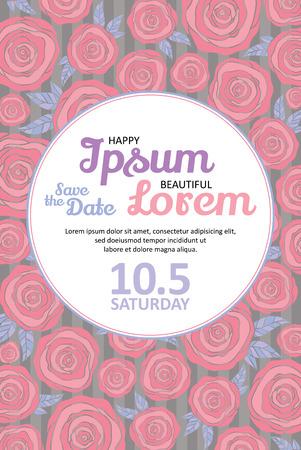 fondo elegante: tarjeta de invitaci�n de boda con flores de moda plantilla vector de corriente - para las invitaciones, folletos, tarjetas postales, tarjetas, etc.
