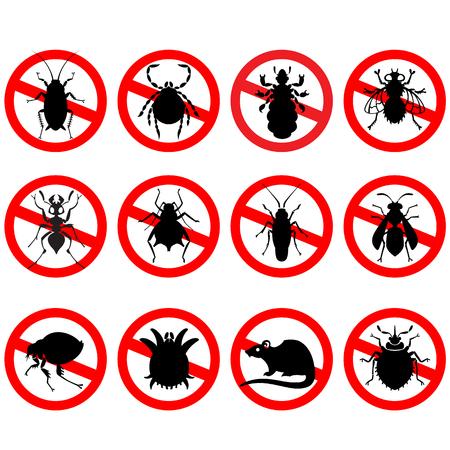 別の漫画や象徴的な絵の動物 - 純粋なベクトル スタイルで家庭の害虫の設定
