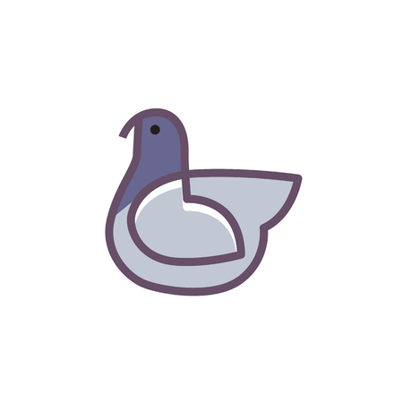 Bird logo design vector template linear style dove pigeon bird logo design abstract vector template linear style dove pigeon logotype concept outline icon pronofoot35fo Images