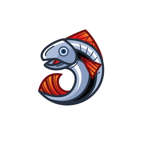 Vector illustration - Jumping fish out of the water