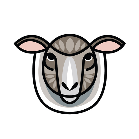 Portrait of Ram or sheep