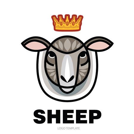 Vector illustrated Portrait of Ram or sheep Illustration