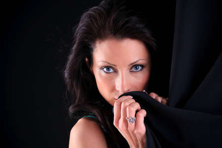 Romantic style photo of a beautiful brunette Stock Photo - 8653576