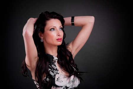 a beautiful brunette photo