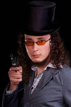 Serious man photo