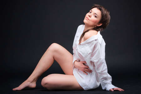 Young sexy brunette Stock Photo - 9614016