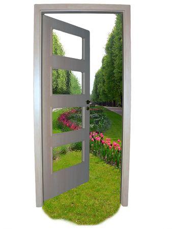 Door to freedom Stock Photo