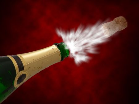 Celebration with drink champagne bubles Stock Photo