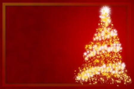 Cristmas tree - cristmas card Stock Photo - 3285406