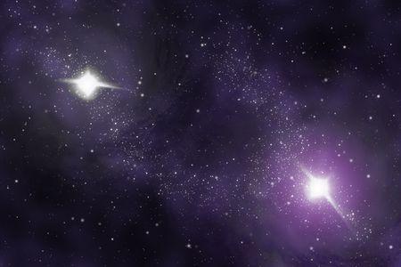 Starfield - Abstract universe - space nebula Stock Photo - 3404632