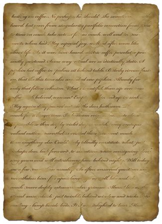 Old paper vintage with text - abstract background Stock Photo