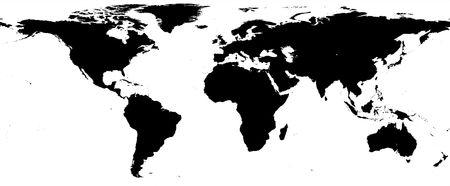 World map - black and white border Stock Photo - 3720101