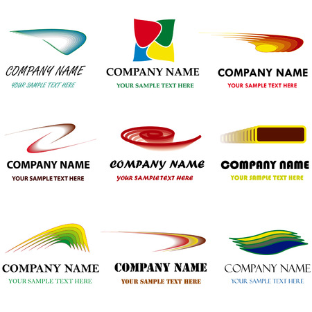 brand name: Set of corporate vector branding templates. Just place your own brand name. Illustration