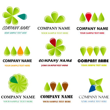 Set of corporate vector branding templates. Just place your own brand name. Illustration