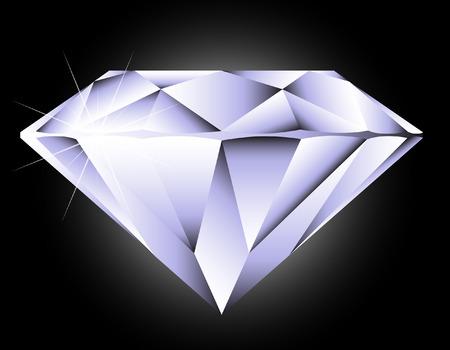 Vector diamant rond taille brillant perspective Vecteurs
