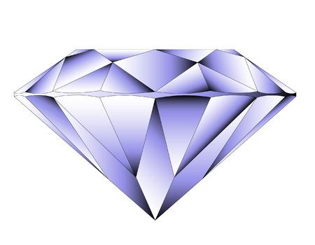 diamante: Vector ronda brillante corte de diamantes perspectiva
