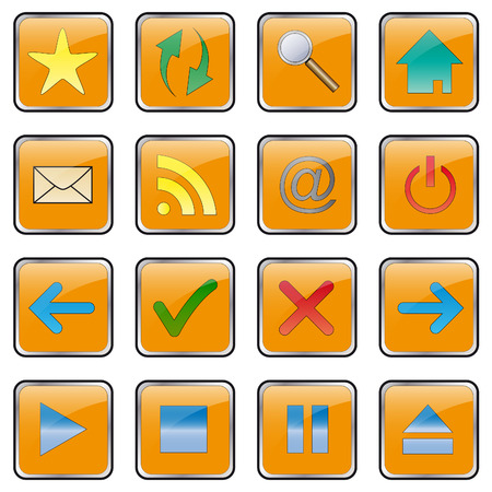 Web icon set - collection. Easy to edit vector button image. Stock Vector - 4352657