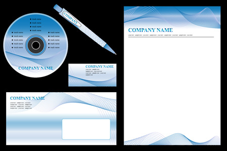stationery set: Vector easy editable - corporate identity template, business stationery set. Illustration