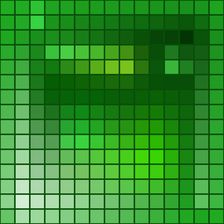 Vector abstract background - squares mosaic texture - green tones Vector