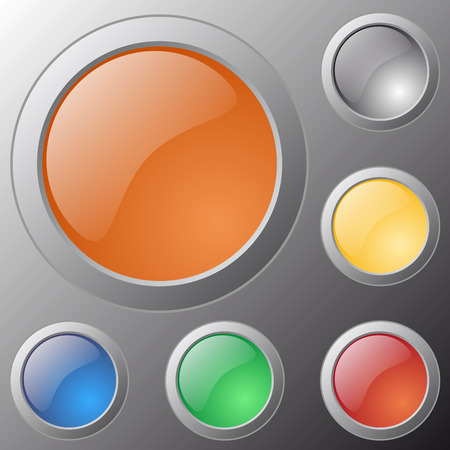 Vector glossy buttons for web applications. Vector