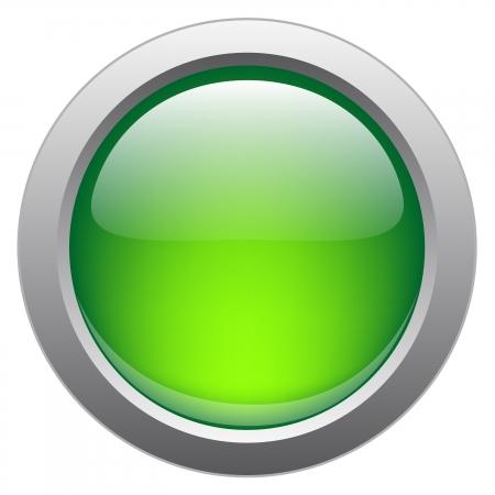 Vector glanzende knop voor web applicaties.