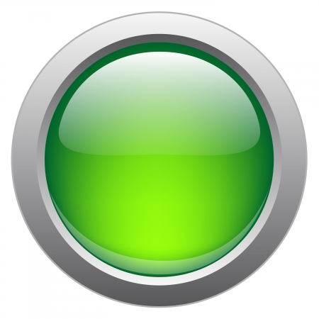 Vector glossy button for web applications. Vector