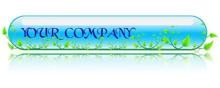 Ilustración vectorial entorno verde y azul concepto. Foto de archivo - 4414813