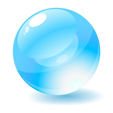 Vector illustration. Blue glossy circle web button. illustration