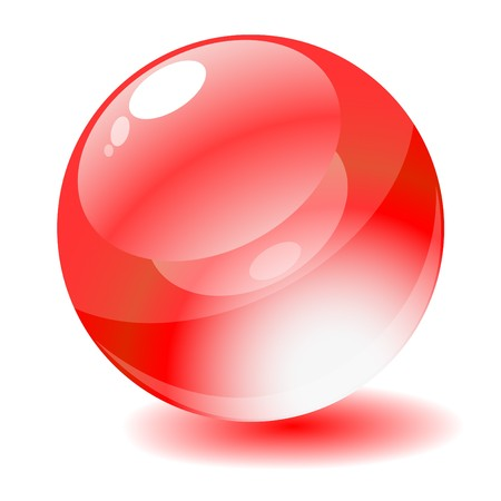 Vector illustration. Red glossy circle web button. Stock Illustration - 4414801