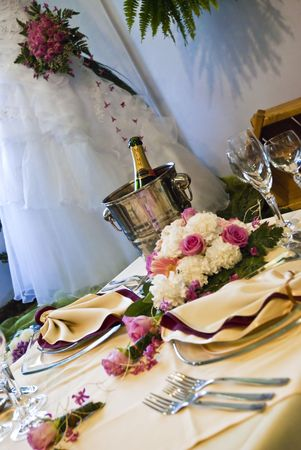 Beautiful wedding table  photo