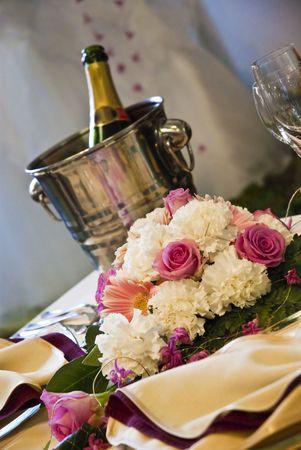 Beautiful wedding table  Stock Photo - 5238176