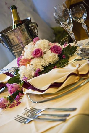 table and chairs: Beautiful wedding table