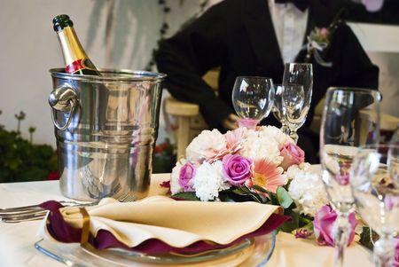 Beautiful wedding table  photo